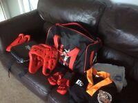 Full kids Taekwondo sparring kit with active tigers suit and hoodie