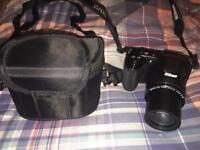 Nikon L340 Coolpix Bridge Camera 20.2 MP. With Case