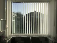Vertical blinds, white 3 months old. No longer required due to extension and window going.