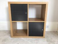 Shelf Unit - Ikea Kallax with Doors