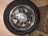 "20"" voodoo rims and snow tires 900 obo"