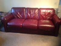 3 x 2. Seater leather sofa