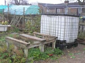 IBC Storage Tank Water Container Rainwater Butt Havester 1000L