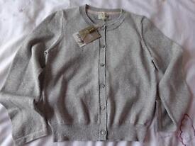 Girls silver cardigan, age 5-6