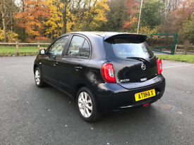 **NISSAN MICRA ACENTA 2014 ONLY 11,235 MILES LADY OWNER £30 TAX**
