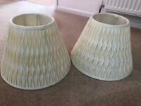 Pair of fabric lampshades
