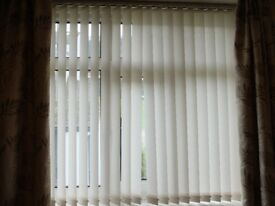 2 x vertical window blinds, 5 foot wide, 57 inch drop