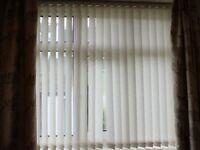 2 x vertical window blinds, 5 foot wide, 57 inch drop