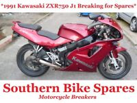1991 Kawasaki ZXR750 J1 * Breaking For Spares / Parts * ZXR 750 J1 J
