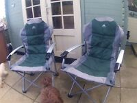 Sunncamp Deluxe Steel Super Folding Armchair X2