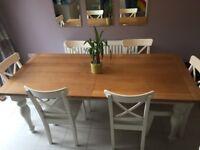 Next Oak extendable Dining Table - farmhouse style