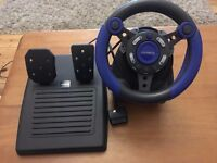 4Gamers Turbo Racer Steering Wheel PS1/PS2