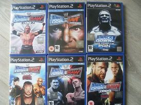 PS2 Smackdown Games - Various - 6 Available