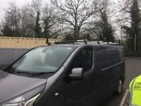 Rhino roof bar set forsale 2 months old 4 bars ladder roller and load stops