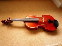 "Viola, Gliga Gama 15"" with carbon fibre bow, hard case & stand £250"