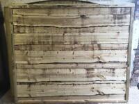 Wayneylap Heavy Duty Pressure Treated Wooden Fence Panels