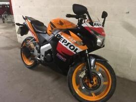 2012 62 HONDA CBR 125 R REPSOL PAINT 9k Miles MARQUEZ MOTO GP REPLICA