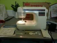 Brother sewing machine with instruction and accessories