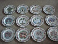 royal worcester the twelve days of christmas plates