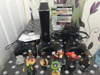 Xbox 360 with Disney infinity and figures