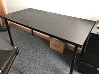 Ikea black wooden desk table