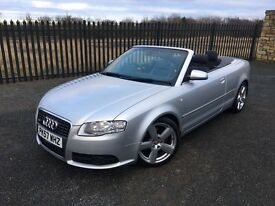 2007 57 AUDI A4 1.8 S LINE CONVERTIBLE - *8th JANUARY 2018 M.O.T* - GOOD EXMAPLE