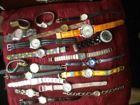 20 ASSORTED WATCHES MENS LADIES AND CHILDREN
