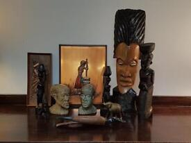 African pictures and statues