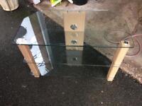 Tv stand glass & oak affect finish