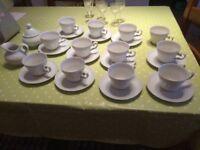 Seltmann Weiden, Bavaria, W.Germany White porcelain tea set