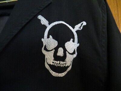 Fender Guitar Evil Deeds Embroidered Blazer Jacket Mens Size Medium Snake Skull ()
