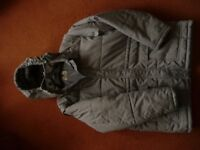 Mens Grey Lined Winter Coat Size Extra Large