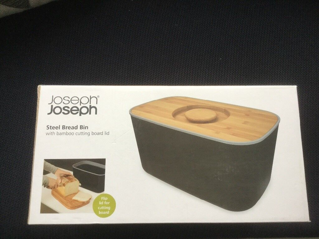 Joseph Steel Bread Bin In Black