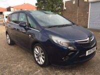 2012 Vauxhall Zafira Tourer 1.4 i Turbo VVT 16v SRi 5dr low mileage, long mot, very clean in and out