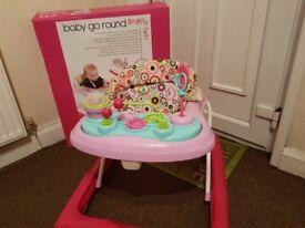 RedKite Baby Go Round Twirl Baby Walker Pink