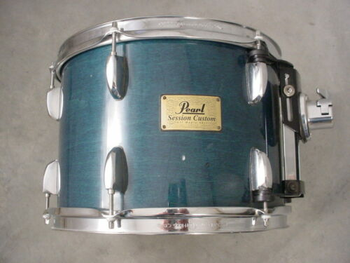 "PEARL SESSION CUSTOM 13"" BLUE STAIN LACQUER MOUNTED TOM DRUM"