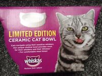 Whiskas limited edition ceramic cat bowl x 2