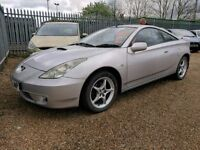 TOYOTA CELICA - 2 OWNER - VERY LOW MILES - FULL 16 STAMP HISTORY