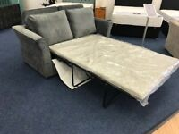 Sofabed Grey Fabric 2 Seater Jumbo Cord Ex-showroom display