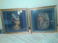 Egyptian tapestry pictures X2