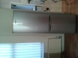 silver grey bush fridge freezer