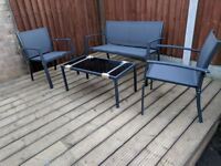 4 Seater Metal Garden Coffee Set