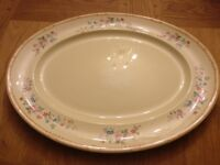 Large platter plate dining