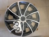 """5 stud steel wheels with tyres, 15"""" wheel trims, new 205/55/16 on a new steel"""