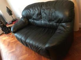 Leather Sofa - Black - Used condition
