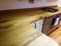 Solid Oak Worktops, Full Stave, Cut to Size, 640mm width, 40mm depth