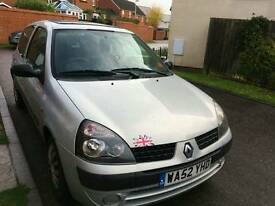Renaul Clio 1.5dci new clutch and long MOT TAX £30 a year