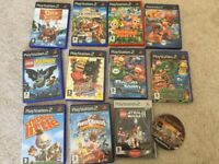 PS2 Games & Buzz Controllers