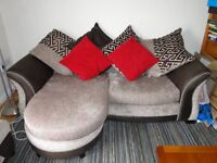 2 x dfs sofas, immaculate, pet free, non smoking and scotchguard from new