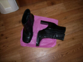 Ladies leather low/medium ankle boots Size 36xx